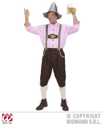 Trachten Kostüm Bayrischer Mann Gr. L - Oktoberfest - Tracht Lederhose