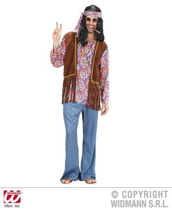 Hippy Kostüm Psychedelic Hippie - 70er Jahre Woodstock Gr. L