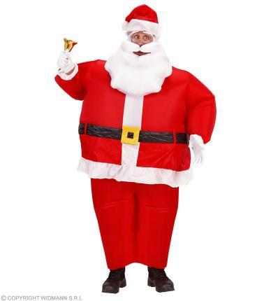 Aufblasbares Weihnachtsmann Kostüm Nikolaus - Luftkostüm Nikolauskostüm