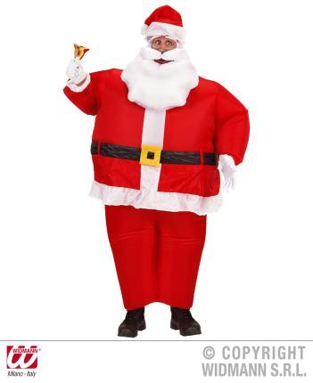 Aufblasbares Weihnachtsmann Kostüm Nikolaus - Luftkostüm