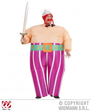 Aufblasbares Vikinger Kostüm - Vikingerkostüm Gr. M/L