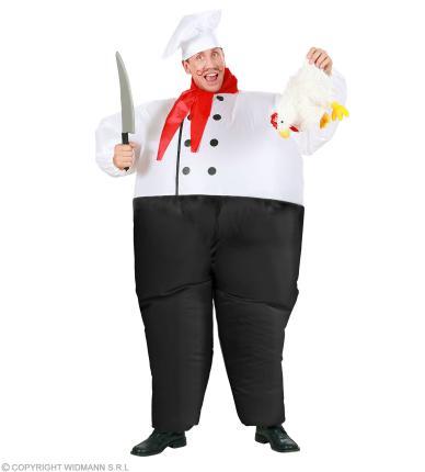 Aufblasbarer Chef Koch - Fernsehkoch - Chefkoch Küchenchef Einheitsgröße