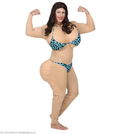 Miss Bikinie Kostüm - Unisex - Bodybuilderin - Miss Universe Gr. XL
