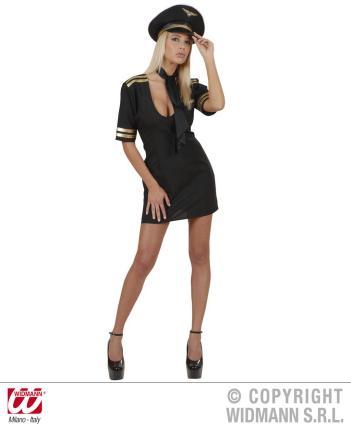 Pilotin Kostüm sexy Glam Girl Gr S  Kapitänin Hostess Stewardess 34-36