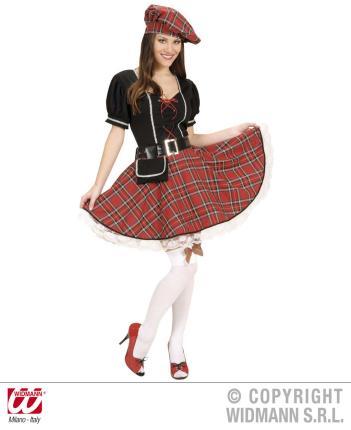 Kostüm Schottin - Schottenrock für Frauen M - Schottischen Kleid Größe M