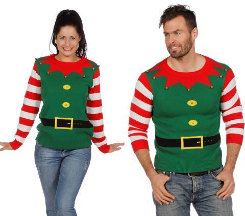 Wilbers Weihnachtspullover Wichtelhelfer Gr. S -  Weihnachtspulli Elfen Unisex