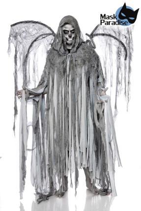 Todesengelkostüm: Engel des Todes Mann  Mask Paradise Einheitsgröße