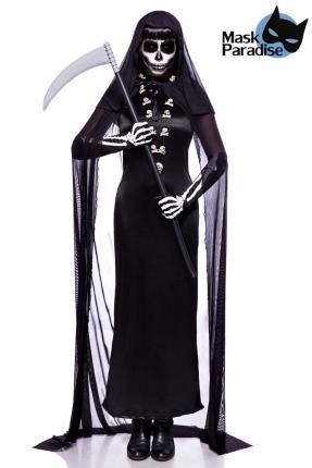 Lady Death Kostümset -  Tod Kostüm - Sensenmann Mask Paradise Gr. 2-3XL