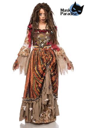 Mask Paradise Calypso Kostümset Hexe Karibik für Damen Gr. S-M