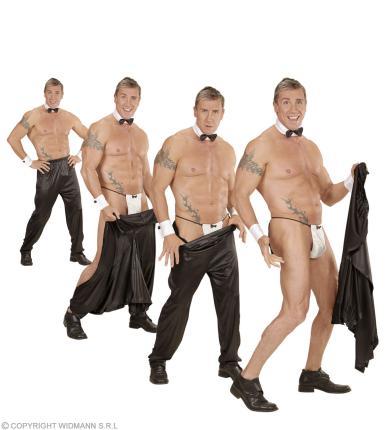 Stripperhose mit Klettverschluß - Striphose Gr. XL - Strip Hose Strippen XL