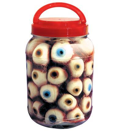 Laborglas mit Augen - Party Dekoration - Halloween Deko - Laborgefäß