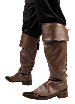 Stiefelstulpen braun Gamaschen Schuhüberzieher Piratenstiefel Walker