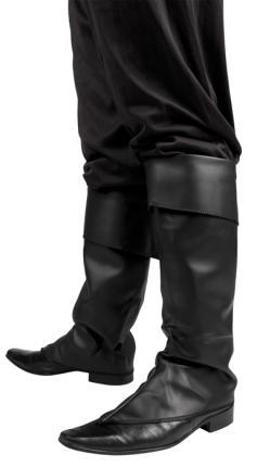 Stiefelstulpen schwarz Gamaschen Schuhüberzieher Piratenstiefel Hunter