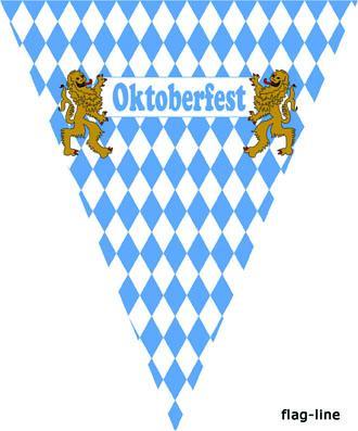 Wimpelkette Oktoberfest - Bayrische Raute - Wiens Kette