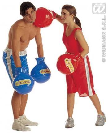 Aufblasbare Boxhandschuhe - ein Paar Handschuhe