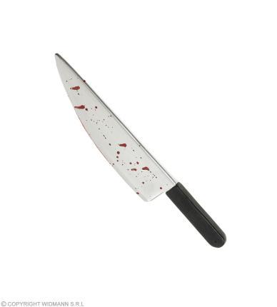 Blutverschmiertes Messer ca. 48 cm lang - Faschingsmesser