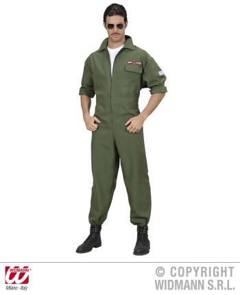 Kampfjet Pilot Kostuem - Jet Pilot Verkleidung Gr. M Kampfpilot Pilotenkostüm