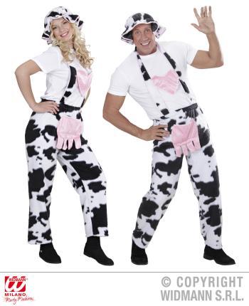 Latzhose Kuh mit Hut - Kuh Kostüm Gr. L