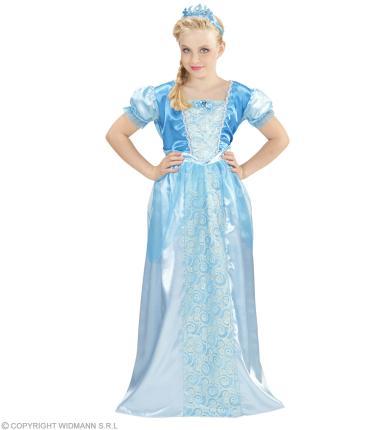 Schneeprinzessin - Eisprinzessin Kostüm - Prinzessin Mädchenkostüm M - 140 cm
