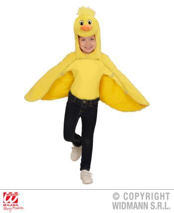 Küken Plüsch Kostüm - geflügelter Umhang mit Kapuze und Maske 2-4 Jahre