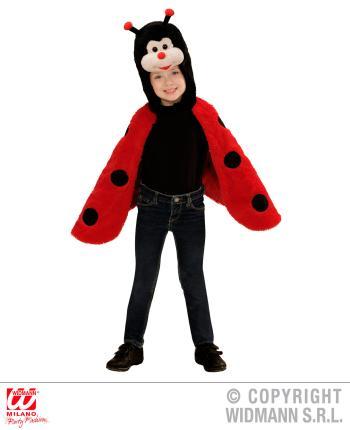 Marienkäfer Plüsch Kostüm  - Umhang mit Kapuze und Maske 2-4 Jahre