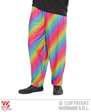 80er Jahre Hose mit Regenbogen Muster, bunt Gr.  XL
