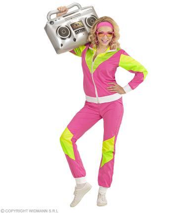 Damen Kostüm 80er Jahre Trainingsanzug Gr. XXL - Jogginganzug