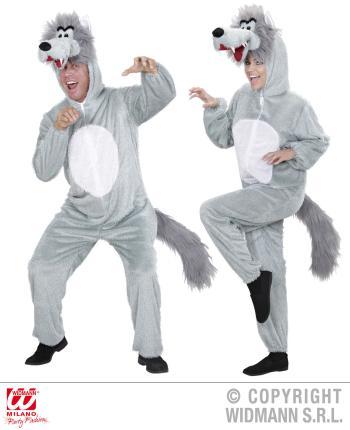 Wolf Plüsch Kostüm - Wolfkostüm XL 190cm Damen Herren
