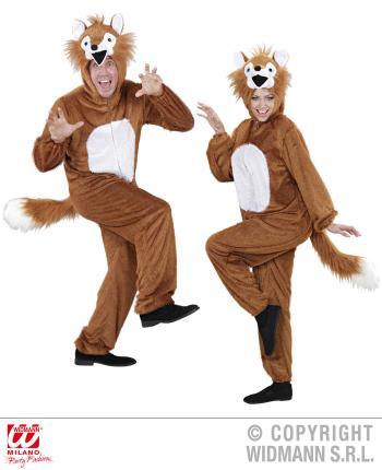 Kostüm Fuchs, Overall mit Maske - Fuchskostüm Gr. M bis 165 cm Größe