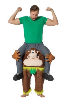 Huckepack Kostüm  - Gorilla - Affenkostüm - Wilbers Gr. M/L - Hucke Pack