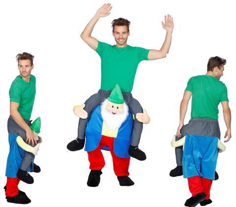 Huckepack Kostüm - Mann auf Klabautermann - Wilbers Gr. M/L - Hucke Pack Zwerg