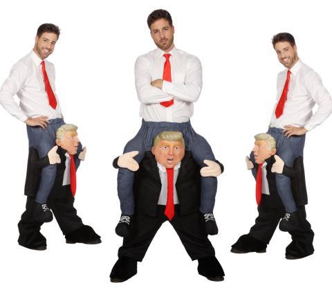 Huckepack Kostüm - Mann auf Trump - Wilbers Gr. M/L - Hucke Pack  Präsident