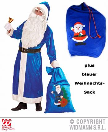 blauer nikolaus weihnachtsmann kost m deluxe gr xl mit. Black Bedroom Furniture Sets. Home Design Ideas