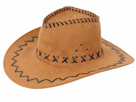 Western Cowboy Hut - Westernhut hell-braun