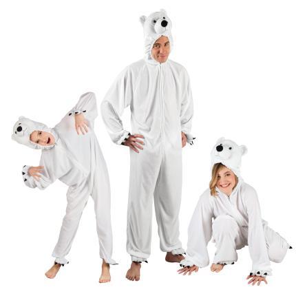 Eisbär Plüsch Kostüm  bis 1,80 m - Eisbären Partner Verkleidung