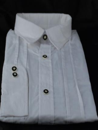 Trachtenhemd weiß Gr. M - 40