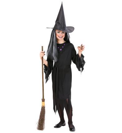 Kostüm Hexe schwarz 128 cm Preishit Halloween