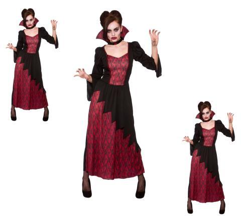Kostüm teuflische Vampirin - Halloween Damen Vampir Gr. L