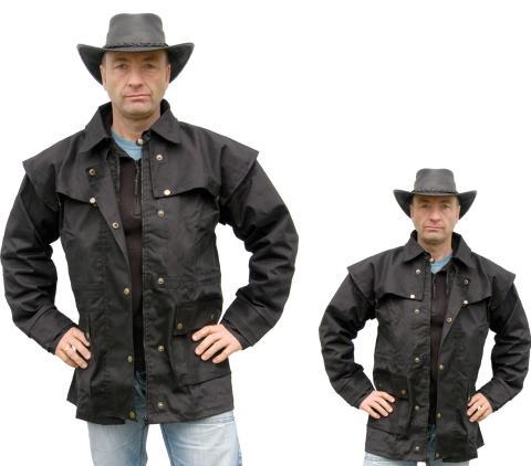 Westernjacke regenfest ungeölt Country Gr. XXL - von Running Bear schwarz