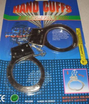 Metall Handschellen mit Schlüssel