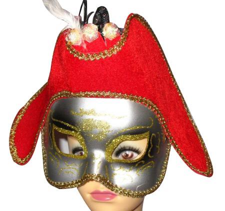 Rote Prinzen Maske - Prinzessin