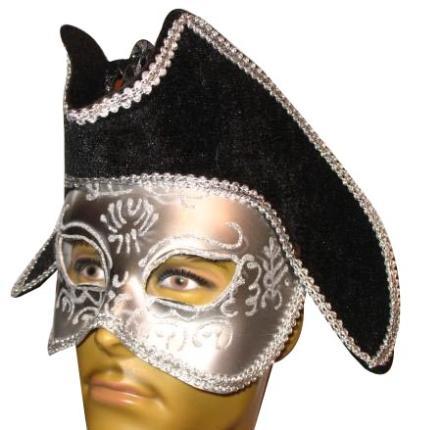 Schwarze Prinzen Maske - Prinzessin