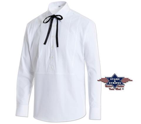 Cowboy Westernhemd Joseph Rodeo weiß Stars & Sripes old style Hemd Western