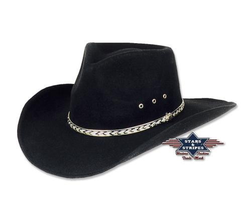 Mexikanischer Fauxfelt Hut  Gr. 52 - 61  - Stars & Stripes Kansas Cowboyhut