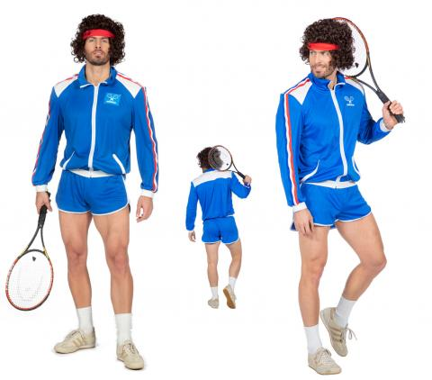 Wilbers Tennis Kostüm Tennisspieler 80er Gr. 50 - 58 - Wimbledon