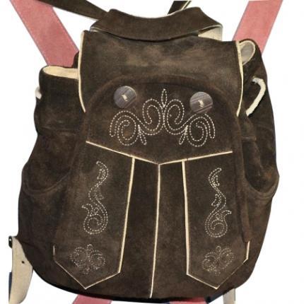 Trachten Rucksack - Leder Dirndl Tasche mit Stickereien