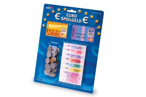 Noris Euro Spielgeld Scheine + Münzen - Geld Kinder Euroscheine