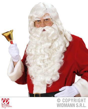 Santa Claus Weihnachtsmann Perücke, Bart, Augenbrauen Nikolaus