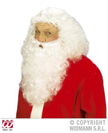 Santa Claus Perücke mit Bart -  Weihnachtsmann Perücke de luxe