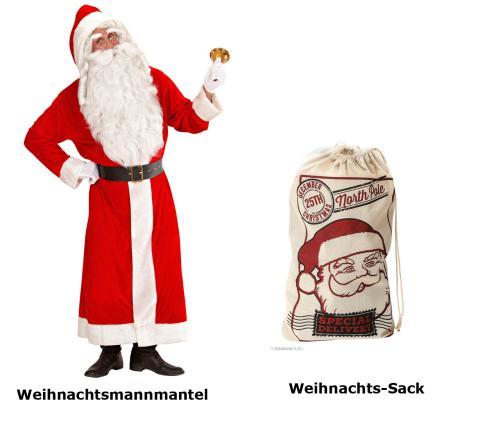 Santa Claus Kostüm  XL - Weihnachtsmann - Nikolaus SAMT Delux + Weihnachtssack